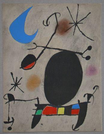 ステンシル Miró - Femme dans la nuit
