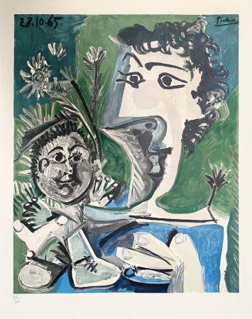 リトグラフ Picasso - Femme et Enfant