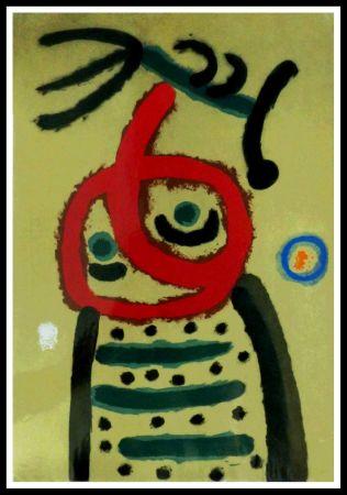 ステンシル Miró (After) - FEMME ET OISEAU