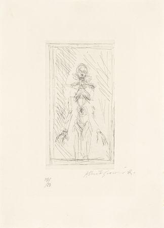 彫版 Giacometti - Femme nue de face à mi-corps