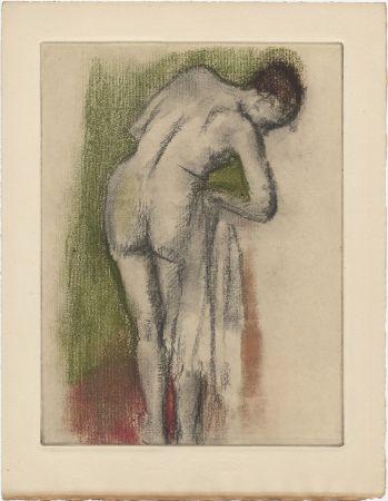 エッチングと アクチアント Degas - Femme nue debout à sa toilette (vers 1880-1890)