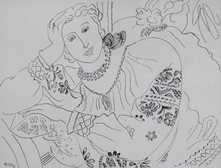 リトグラフ Matisse - Femme sur chaise longue