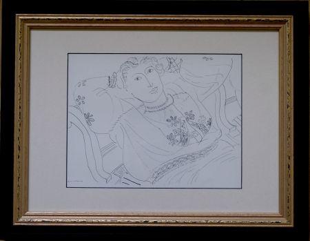 オフセット Matisse - Femme sur chaise longue