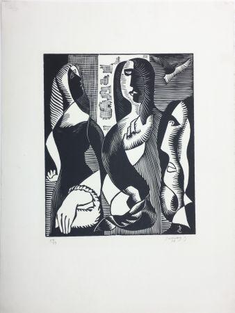 木版 Survage - Femmes Cubistes (Paris, 1933)