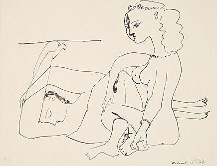 リトグラフ Picasso - Femmes Sur La Plage