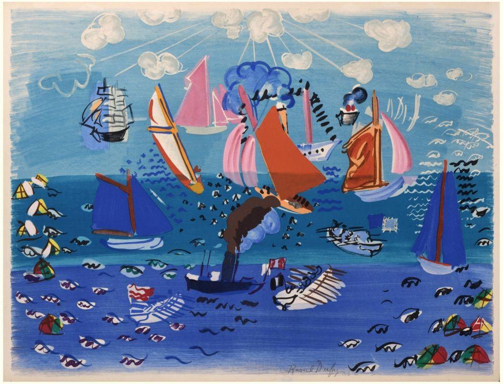 リトグラフ Dufy - FESTIVAL, MARINE