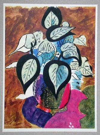 リトグラフ Braque (After) - Feuillage en couleurs