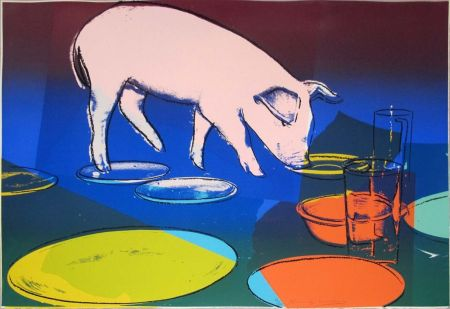 シルクスクリーン Warhol - Fiesta Pig Fs Ii.184