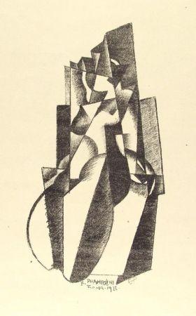 リトグラフ Prampolini - Figur in Bewegung