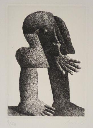 彫版 Antes - Figur Kösel II (Kopffüssler).
