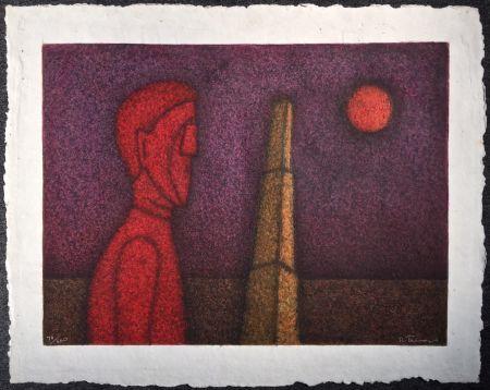 多数の Tamayo - Figura en rojo