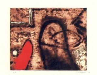彫版 Guinovart - Figura I Vermell