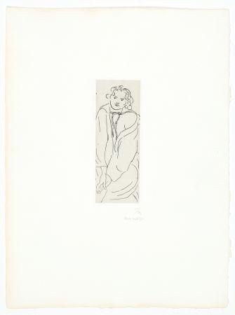 彫版 Matisse - Figure au peignoir