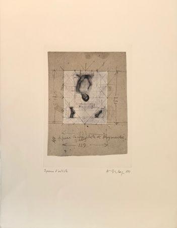 シルクスクリーン Delay - Figure incomplète et fragmentée, 1991