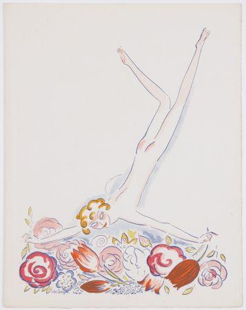 ステンシル Van Dongen - Fille au Fleurs
