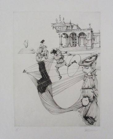 エッチングと アクチアント Bellmer - Filles et cerceau