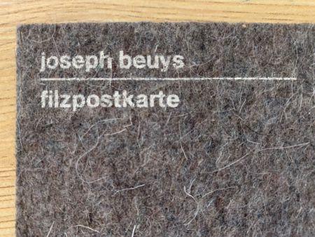 シルクスクリーン Beuys - Filzpostkarte