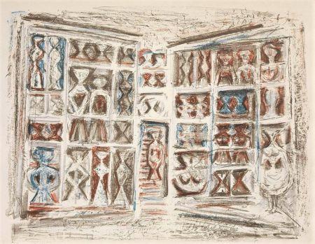 リトグラフ Campigli - Finestre
