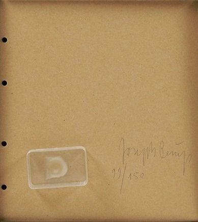 多数の Beuys - Fingemagelabdruck aus geharteter butter