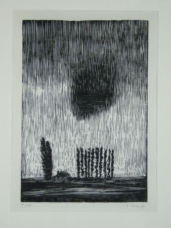 木版 Marcks - Finstere Wolke (Dark Cloud)