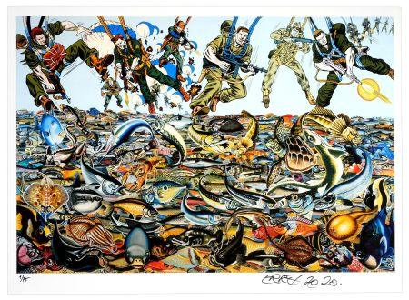 デジタル版画 Erro - Fishlandscape