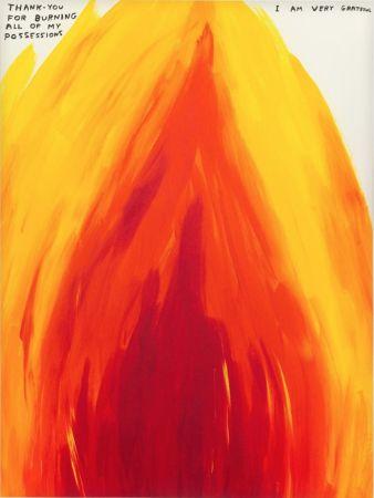 シルクスクリーン Shrigley - Flame