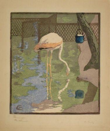 木版 Cunz - Flamingo