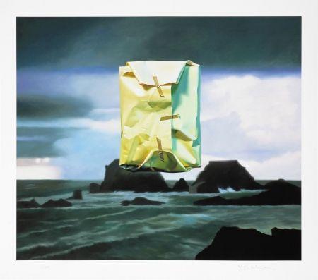 デジタル版画 Edelmann - Flashlighted floate parcel in stormy ocean and sky