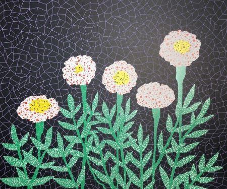 リトグラフ Kusama - Flower