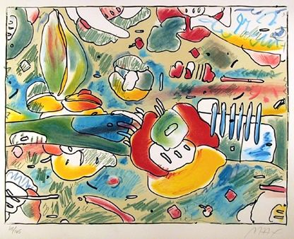 リトグラフ Max - Flower Abstract