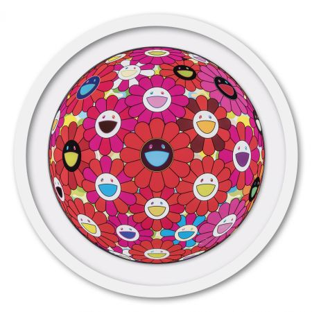 オフセット Murakami - Flower Ball (3D) Red, Pink, Blue