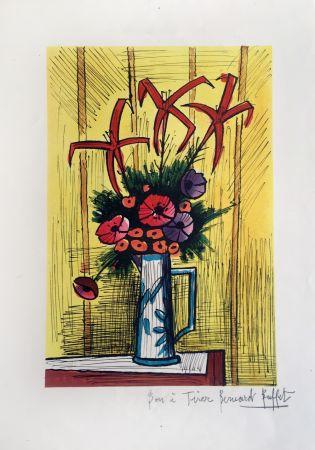 リトグラフ Buffet - Flower Bouquet