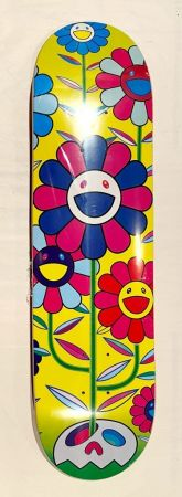 シルクスクリーン Murakami - Flower Cluster Skate Deck