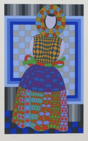 多数の Vasarely - Flower Girl