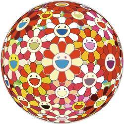 シルクスクリーン Murakami - Flowerball 3D Goldfish