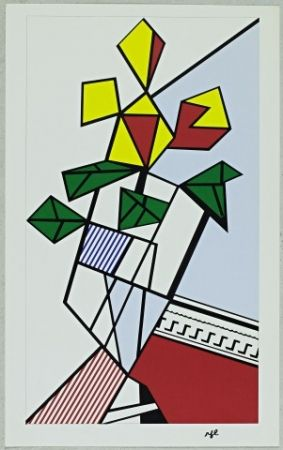 シルクスクリーン Lichtenstein - Flowers
