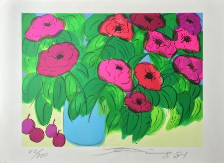 リトグラフ Ting - Flowers