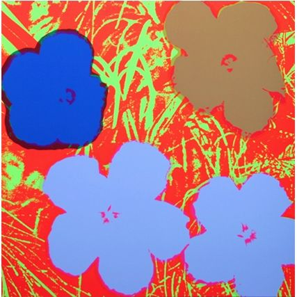 シルクスクリーン Warhol (After) - Flowers (by Sunday B. Morning)