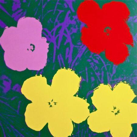 シルクスクリーン Warhol (After) - Flowers IV