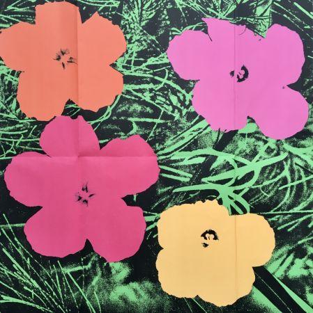 技術的なありません Warhol - 'Flowers (Leo Castelli Mailer)' 1964 Original Pop Art Poster