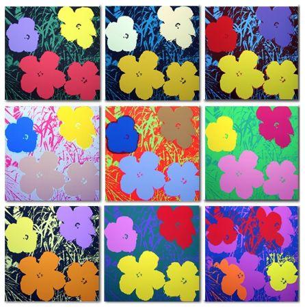 シルクスクリーン Warhol (After) - Flowers Set of 10 (by Sunday B. Morning)