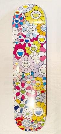 シルクスクリーン Murakami - Flowers Skate Deck