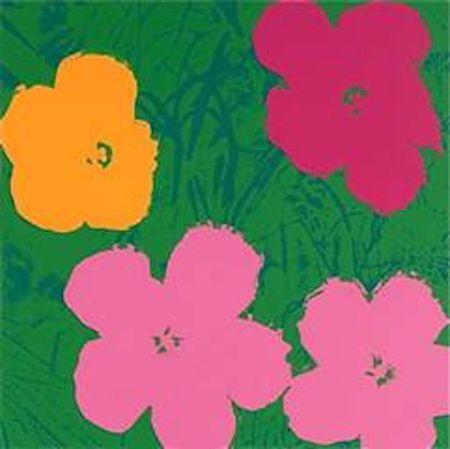 シルクスクリーン Warhol (After) - Flowers V