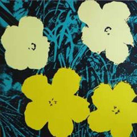 シルクスクリーン Warhol (After) - Flowers VII