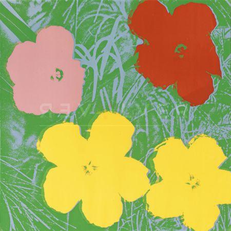 シルクスクリーン Warhol - Flowers, Yellow (Fs Ii.65)