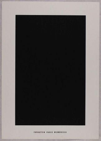 リトグラフ Agnetti - Forgotten pages memorised from 'Spazio perduto e spazio costruito' portfolio, Plate G