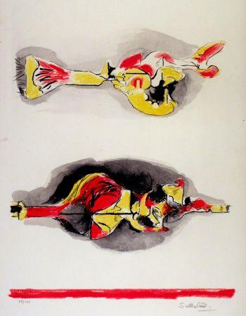 リトグラフ Sutherland - Formes volantes et flottantes