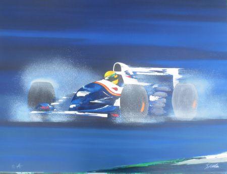 リトグラフ Spahn -  Formule I bleue