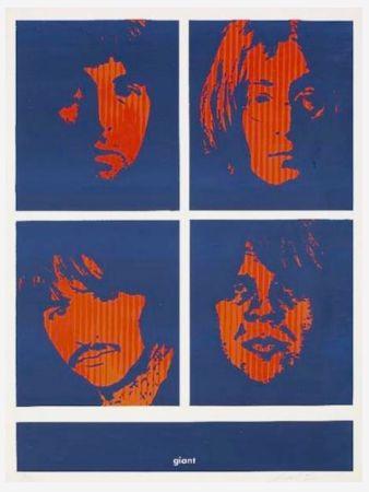 シルクスクリーン Fairey - Four Giant Beatles