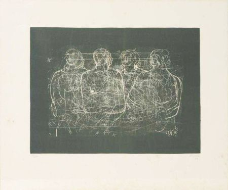 リトグラフ Moore - Four Grey Ladies